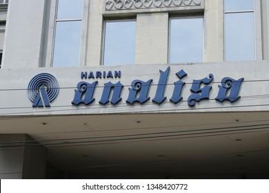 23 March 2019, Medan City, North Sumatra, Indonesia- Harian Analisa is a very long established newspaper company in Medan City established in 23 March 1972.