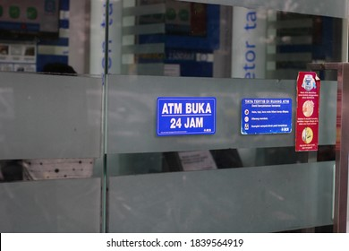 23 October 2020,Medan City, Indonesia-BCA bank ATM . The bank was founded on February 21, 1957 under the name Bank Central Asia NV and was once an important part of the Salim Group