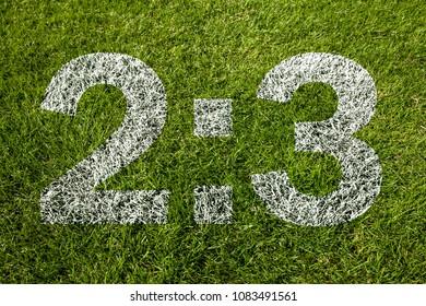 2:3 on soccer meadow