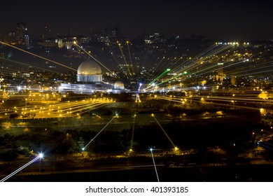 23 september 2012.View of the old city of Jerusalem from the Mount of olives at evening illumination, Jerusalem, Israel