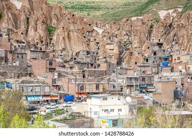 23/05/2019 East Azerbaijan Province. Iran.View of Iranian ancient cave troglodyte village Kandovan in East Azerbaijan. Iran. Province near Tabriz city. looks like village in Turkey