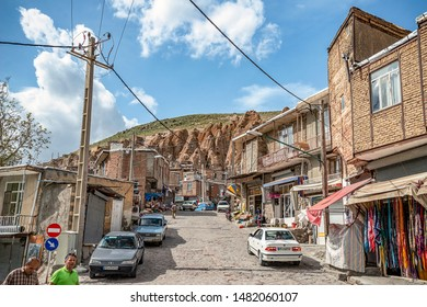 23/05/2019 East Azerbaijan Province. Iran.view on traditional Iranian ancient village of troglodyte in Kandovan. near Tabriz city. looks like village in Turkey. selective focus