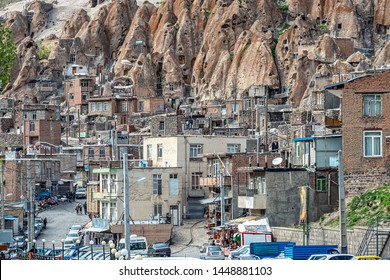 23/05/2019 Kandovan. Iran. close up view on yard of traditional Iranian  village  in Kandovan in East Azerbaijan Province. Iran. near Tabriz city. selective focus
