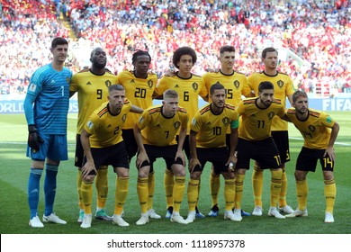 23.06.2018. Moscow, Russian:Belgium team in  the Fifa World Cup Russia 2018, Group C, football match between BELGIUM V TUNISIA  in SPARTAK STADIUM in Moscow Stadium
