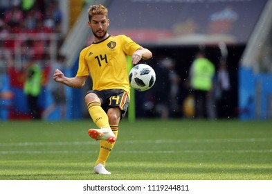 23.06.2018. Moscow, Russian:Dries Mertens  in action during the Fifa World Cup Russia 2018, Group C, football match between BELGIUM V TUNISIA  in SPARTAK STADIUM in Moscow Stadium