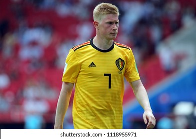 23.06.2018. Moscow, Russian:Kevin De Bruyne  in action during the Fifa World Cup Russia 2018, Group C, football match between BELGIUM V TUNISIA  in SPARTAK STADIUM in Moscow Stadium