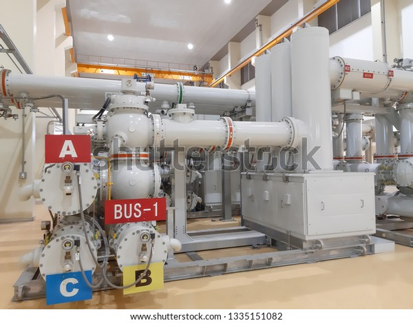230kv Gas Insulated Switchgear Gis Substation Stock Photo