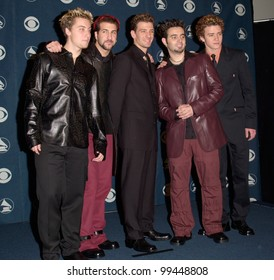 23FEB2000: Pop group NSYNC at the 42nd Annual Grammy Awards in Los Angeles.  Paul Smith / Featureflash