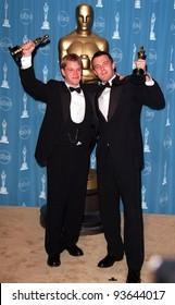 23MAR98: MATT DAMON (left) & BEN AFFLECK at the 70th Academy Awards.