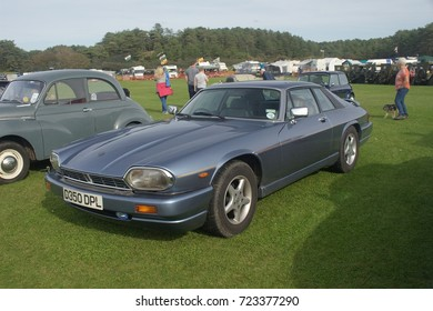 23rd September 2017- A classic Jaguar XJS at a show organised by the Llanelli & District Model Engineers Club in Pembrey Country Park, Carmarthenshire, Wales, UK.