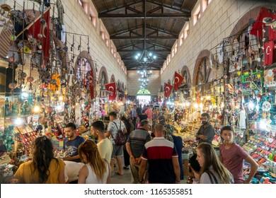 24 Aug 2018 Aynali Carsi, a popular historical bazaar in Canakkale, Turkey