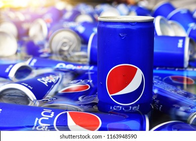 24 August 2018 Bangkok Thailand,people are prepare Pepsi for drink in summer party at Bangkok Thailand