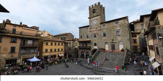 24 july 2014-cortona-italy-the beautiful town of Cortona in Tuscany,italy