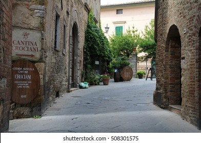 24 july 2014-Montepulciano-italy-Streets in the historic town of Montepulciano in the Tuscan countryside