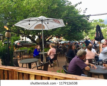 Washington, District of Columbia, United States - 24 June 2016: People spend time at the cafe.