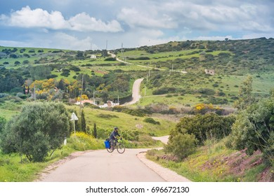 24 MARCH, 2017: Bicycle tour at Algarve - Portugal.