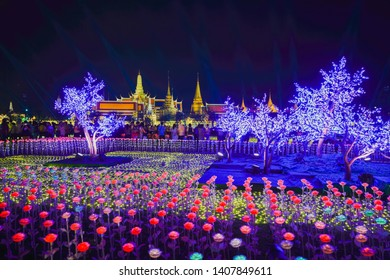 24 May 2019 : People enjoy walking in Celebrate the coronation of His Majesty the King's Event in Sanam Luang, Bangkok - Thailand