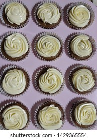 24 pieces of soft,moist carrot cupcakes with cream cheese frosting, birthday gift last quater of 2018