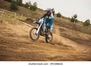 24 september 2016 - Volgsk, Russia, MX moto cross racing - Enduro Dirt bike, telephoto