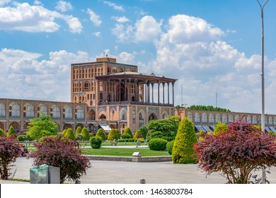 24/05/2019 Isfahan,Isfahan Province,Iran, Naqsh-e Jahan Square with Ali Qapu Palace in sunny day