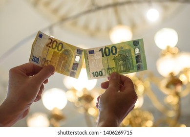 24.05.2019. RIGA, LATVIA.  The National Central bank of Latvia inform the media at press conference about the new 100 euro and 200 euro banknotes of the Europa series.