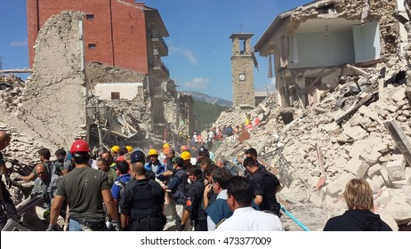 24/8/2016 Amatrice - Rieti - Italy - An earthquake destroyed The city