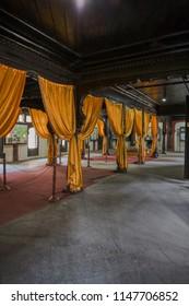24-Dec-2006 Typical interior of Peshwa wada wooden carving Vishrambaug Wada  Pune maharashtra INDIA