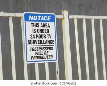 24-hour surveillance sign