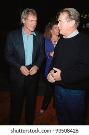 """24SEP99: Actors HARRISON FORD (left) & MARTIN SHEEN at the opening of Cirque du Soleil's new show """"Dralion"""" in Santa Monica, CA.  Paul Smith / Featureflash"""