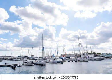 24th August, 2020 - Boats in the port in Gdynia (Poland)
