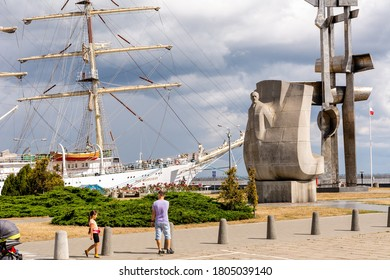 24th August, 2020 - Monument of Sails and Joseph Conrad in Gdynia (Poland)