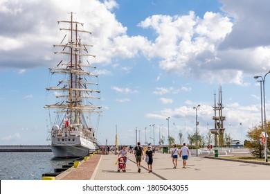 "24th August, 2020 - Polish sailing ship ""Dar Mlodziezy"" in Gdynia (Poland)"