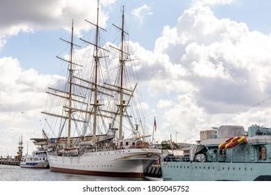 """24th August, 2020 - Polish sailing ship """"Dar Pomorza"""" in Gdynia (Poland)"""