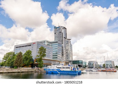 24th August, 2020 - Sea Towers skyscrapper in Gdynia (Poland)
