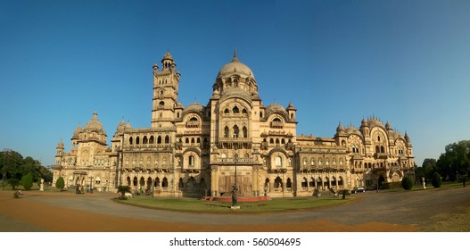 24th December 2015, Vadodara, Gujarat : The Lukshmi vilas palace seen on a bright sunny afternoon. This  Indo-Saracenic Revival architecture, was built by Maharaja Sayajirao Gaekwad III in 1890.