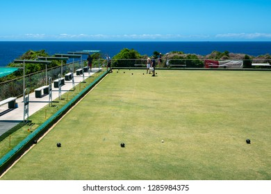 24th December 2018, Clovelly Sydney Australia: Lawn bowls bowling green at Clovelly bowling club in Sydney NSW Australia