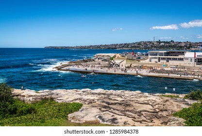 24th December 2018, Clovelly Sydney Australia: Clovelly bay beach and Tom Caddy point view during Bondi to Coogee coastal walk in Sydney NSW Australia