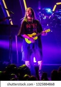 24th February 2019. TivoliVredenburg, Utrecht, The Netherlands. Performace of Billie Eilish