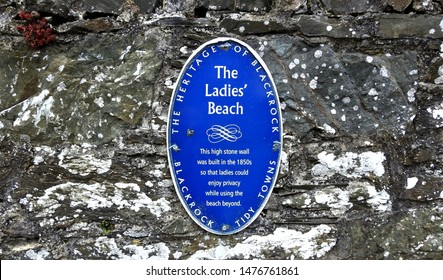 24th July 2019, Dundalk, Ireland. Wall plaque at the entrance to The Ladies Beach in Blackrock, Dundalk, County Louth.