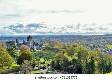 24th October 2017: Landscape of Stirling, Scotland.