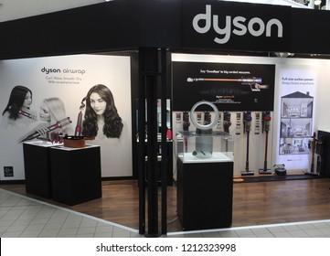 24th October 2018 Dublin. Dyson retail outlet store in St Stephens Green Shopping Centre, Grafton Street, Dublin.