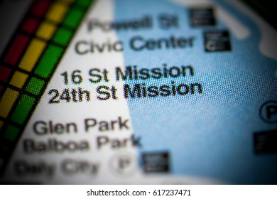 24th St Mission Station. San Francisco Metro map.