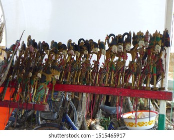 Nganjuk?indonesia-10 25 2014: Krucil puppet show (puppets made from flattened wood usually tells the story of Panji) on October 25, 2014 in Nganjuk, East Java, Indonesia