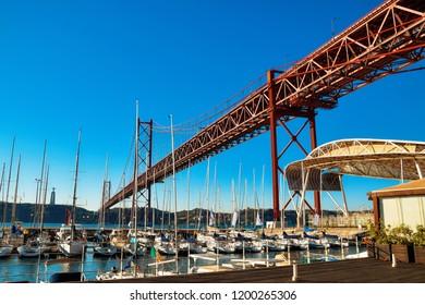 The 25 April bridge (Ponte 25 de Abril) is a steel suspension bridge located in Lisbon, Portugal, crossing the Tejo river. October 2018