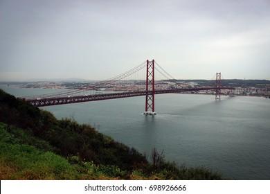 The 25 de Abril Bridge, Lisbon, Portugal