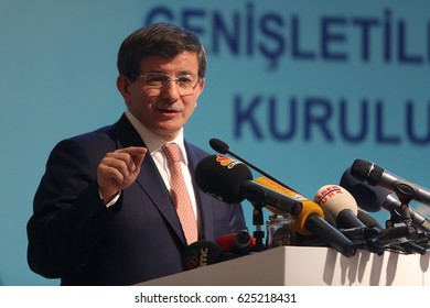 25 December 2013. Istanbul, Turkey. Ahmet Davutoglu is a 26th Prime Minister of Turkey.