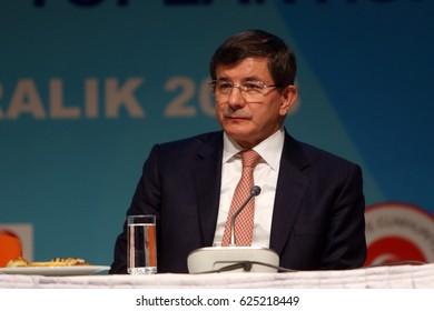 25 December 2013. Istanbul, Turkey. Ahmet Davutoglu is a 26th Prime Minister of Turkey.