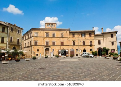 25 july 2014-matelica-italy-The beautiful town of Matelica in the Marche,italy