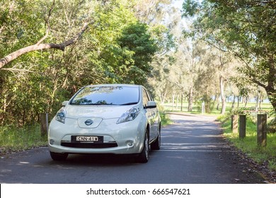 25 June 2017, Sydney, Australia - Electric vehicle Nissan leaf