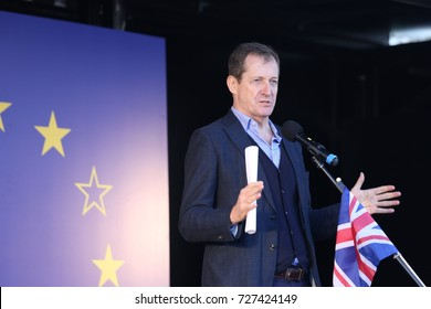 25 March 2017 Westminster London, UK. Alastair Campbell speaks at an anti-Brexit meeting in London